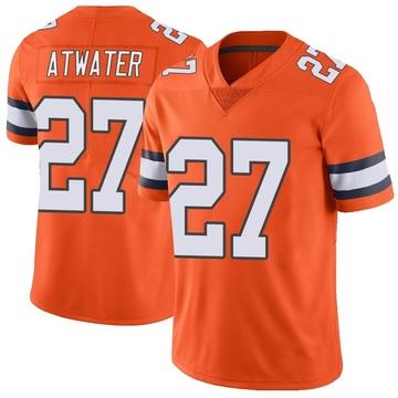 Youth Nike Denver Broncos Steve Atwater Orange Color Rush Vapor Untouchable Jersey - Limited