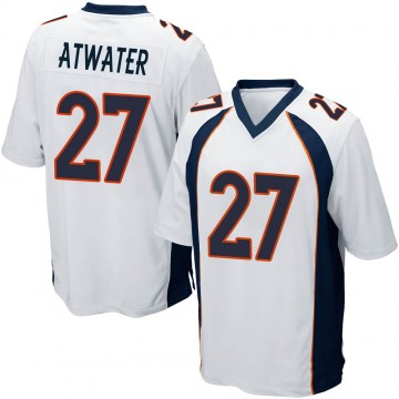 Youth Nike Denver Broncos Steve Atwater White Jersey - Game