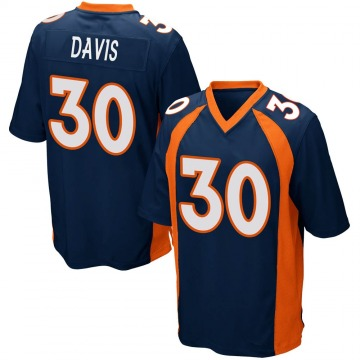 Youth Nike Denver Broncos Terrell Davis Navy Blue Alternate Jersey - Game
