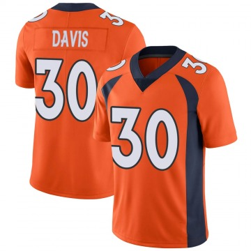 Youth Nike Denver Broncos Terrell Davis Orange Team Color Vapor Untouchable Jersey - Limited