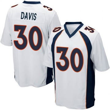 Youth Nike Denver Broncos Terrell Davis White Jersey - Game