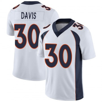 Youth Nike Denver Broncos Terrell Davis White Vapor Untouchable Jersey - Limited