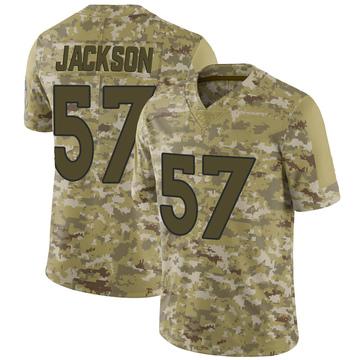 Youth Nike Denver Broncos Tom Jackson Camo 2018 Salute to Service Jersey - Limited