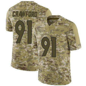 Youth Nike Denver Broncos Tre' Crawford Camo 2018 Salute to Service Jersey - Limited