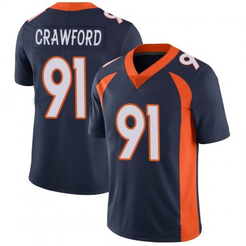 Youth Nike Denver Broncos Tre' Crawford Navy Vapor Untouchable Jersey - Limited