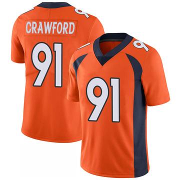 Youth Nike Denver Broncos Tre' Crawford Orange 100th Vapor Jersey - Limited