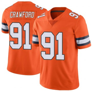 Youth Nike Denver Broncos Tre' Crawford Orange Color Rush Vapor Untouchable Jersey - Limited