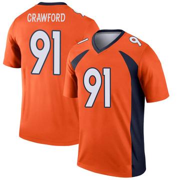 Youth Nike Denver Broncos Tre' Crawford Orange Jersey - Legend