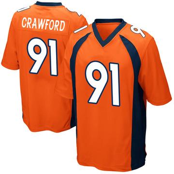 Youth Nike Denver Broncos Tre' Crawford Orange Team Color Jersey - Game