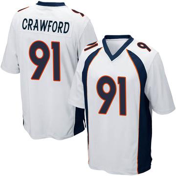 Youth Nike Denver Broncos Tre' Crawford White Jersey - Game