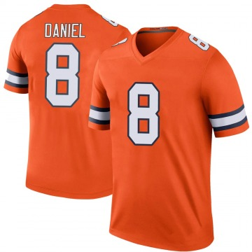 Youth Nike Denver Broncos Trevor Daniel Orange Color Rush Jersey - Legend