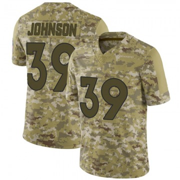 Youth Nike Denver Broncos Trey Johnson Camo 2018 Salute to Service Jersey - Limited