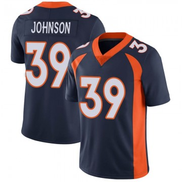 Youth Nike Denver Broncos Trey Johnson Navy Vapor Untouchable Jersey - Limited