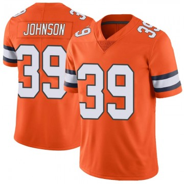 Youth Nike Denver Broncos Trey Johnson Orange Color Rush Vapor Untouchable Jersey - Limited