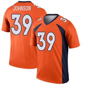 Youth Nike Denver Broncos Trey Johnson Orange Jersey - Legend