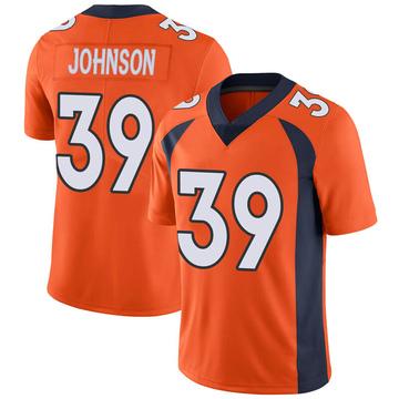 Youth Nike Denver Broncos Trey Johnson Orange Team Color Vapor Untouchable Jersey - Limited