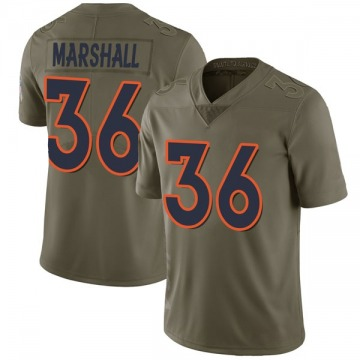 Youth Nike Denver Broncos Trey Marshall Green 2017 Salute to Service Jersey - Limited