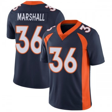 Youth Nike Denver Broncos Trey Marshall Navy Vapor Untouchable Jersey - Limited