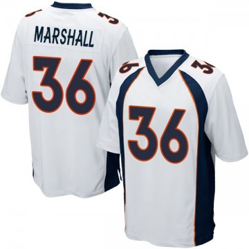 Youth Nike Denver Broncos Trey Marshall White Jersey - Game