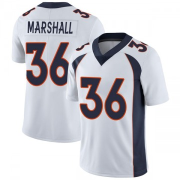 Youth Nike Denver Broncos Trey Marshall White Vapor Untouchable Jersey - Limited