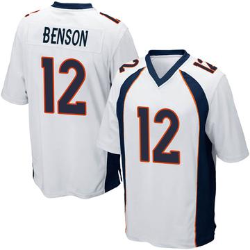 Youth Nike Denver Broncos Trinity Benson White Jersey - Game