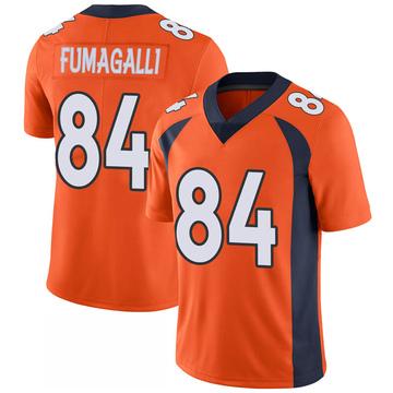 Youth Nike Denver Broncos Troy Fumagalli Orange 100th Vapor Jersey - Limited