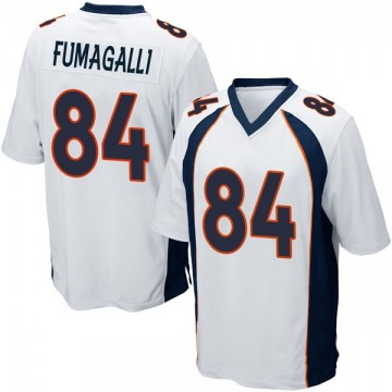 Youth Nike Denver Broncos Troy Fumagalli White Jersey - Game