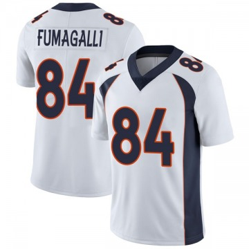 Youth Nike Denver Broncos Troy Fumagalli White Vapor Untouchable Jersey - Limited