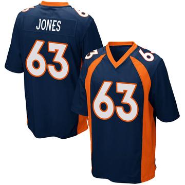 Youth Nike Denver Broncos Tyler Jones Navy Blue Alternate Jersey - Game