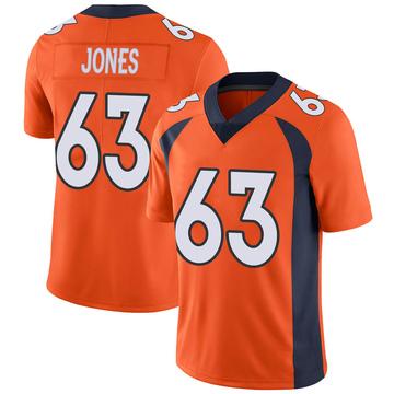 Youth Nike Denver Broncos Tyler Jones Orange Team Color Vapor Untouchable Jersey - Limited