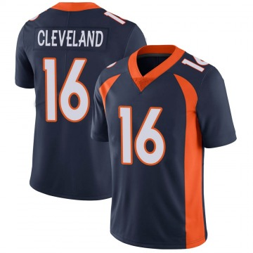 Youth Nike Denver Broncos Tyrie Cleveland Navy Vapor Untouchable Jersey - Limited
