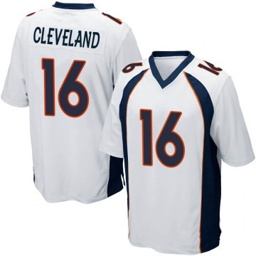 Youth Nike Denver Broncos Tyrie Cleveland White Jersey - Game
