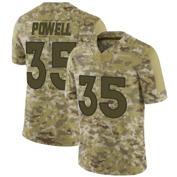 Youth Nike Denver Broncos Tyvis Powell Camo 2018 Salute to Service Jersey - Limited