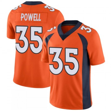 Youth Nike Denver Broncos Tyvis Powell Orange 100th Vapor Jersey - Limited