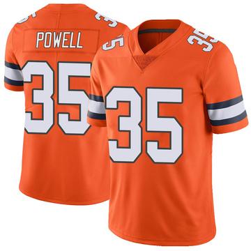 Youth Nike Denver Broncos Tyvis Powell Orange Color Rush Vapor Untouchable Jersey - Limited