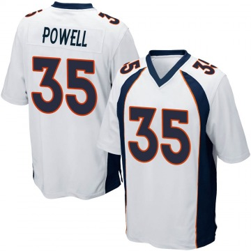 Youth Nike Denver Broncos Tyvis Powell White Jersey - Game