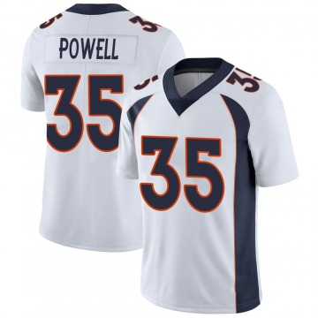 Youth Nike Denver Broncos Tyvis Powell White Vapor Untouchable Jersey - Limited