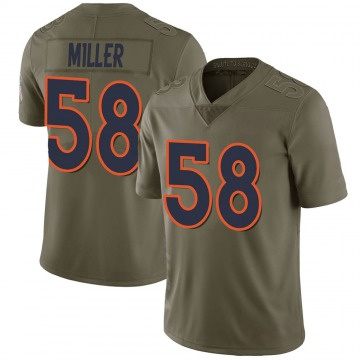 Youth Nike Denver Broncos Von Miller Green 2017 Salute to Service Jersey - Limited