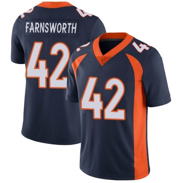 Youth Nike Denver Broncos Wes Farnsworth Navy Vapor Untouchable Jersey - Limited