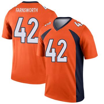 Youth Nike Denver Broncos Wes Farnsworth Orange Jersey - Legend