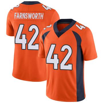 Youth Nike Denver Broncos Wes Farnsworth Orange Team Color Vapor Untouchable Jersey - Limited
