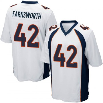Youth Nike Denver Broncos Wes Farnsworth White Jersey - Game