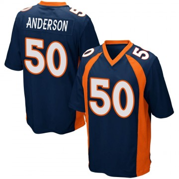 Youth Nike Denver Broncos Zaire Anderson Navy Blue Alternate Jersey - Game