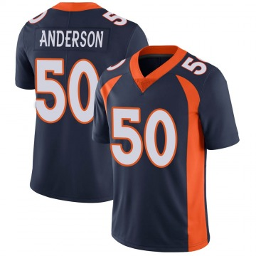 Youth Nike Denver Broncos Zaire Anderson Navy Vapor Untouchable Jersey - Limited