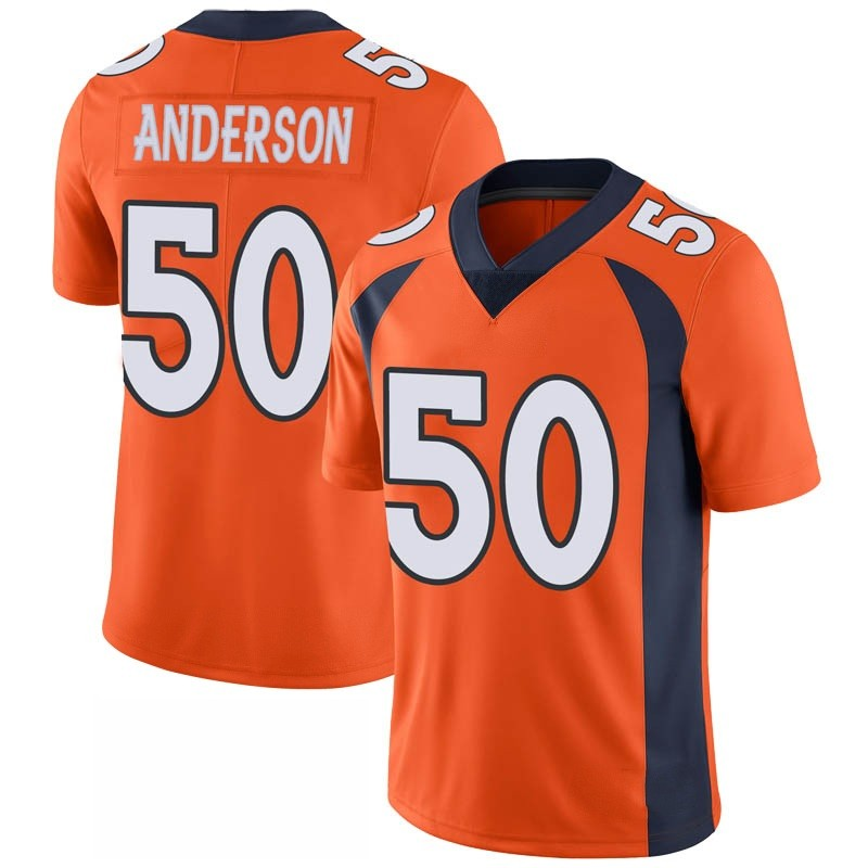 Youth Nike Denver Broncos Zaire Anderson Orange 100th Vapor Jersey - Limited