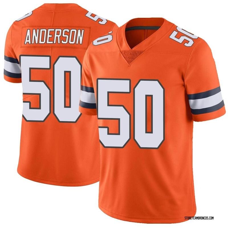 Youth Nike Denver Broncos Zaire Anderson Orange Color Rush Vapor Untouchable Jersey - Limited