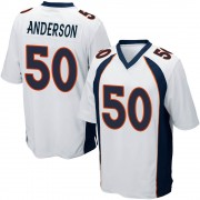 Youth Nike Denver Broncos Zaire Anderson White Jersey - Game