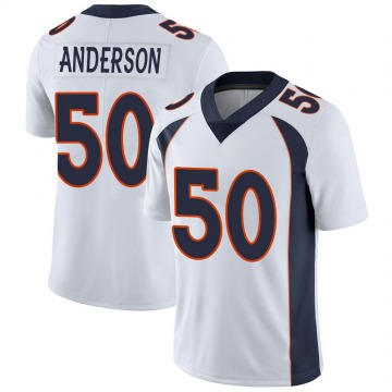 Youth Nike Denver Broncos Zaire Anderson White Vapor Untouchable Jersey - Limited