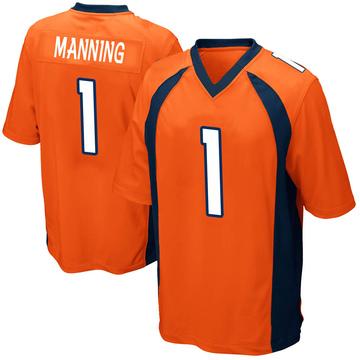 Youth Nike Denver Broncos Zimari Manning Orange Team Color Jersey - Game