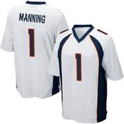 Youth Nike Denver Broncos Zimari Manning White Jersey - Game